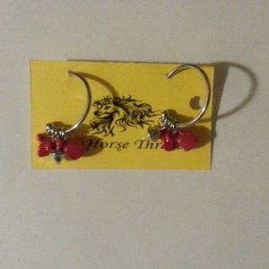 Red Colorful Fashion Casual  Earrings